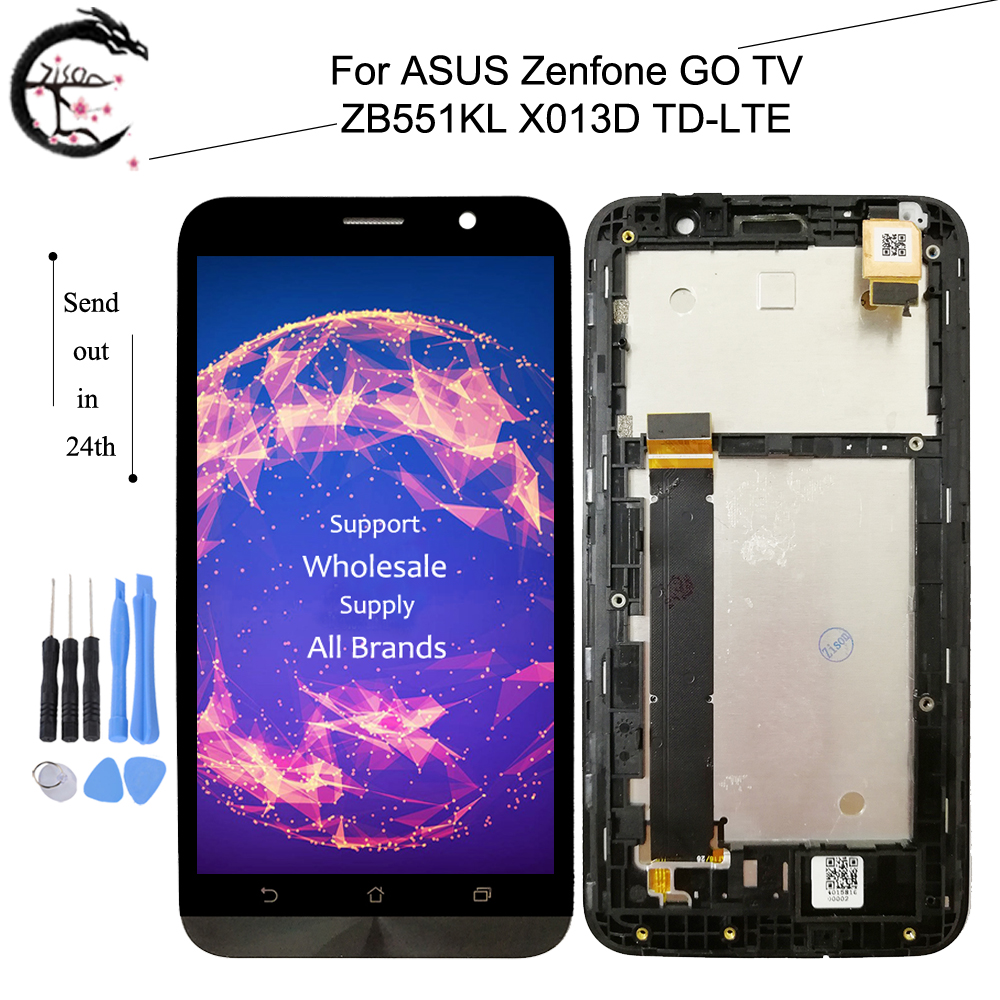 LCD With Frame For ASUS Zenfone Go TV <font><b>ZB551KL</b></font> X013D TD-LTE Full LCD <font><b>Display</b></font> Screen Touch Panel Digitizer Assembly <font><b>ZB551KL</b></font> LCD image