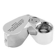 40x 25 Illuminated Magnifying Glass Magnifier Jeweler Eye Jewelry Loupe with LED Lights Jeweller Free Shipping