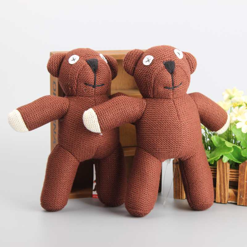 <font><b>Cartoon</b></font> <font><b>Mr</b></font> <font><b>Bean</b></font> Teddy Bear 10 Pcs/lot Soft Toys Brown Bear Stuffed Dolls Children Gift 9