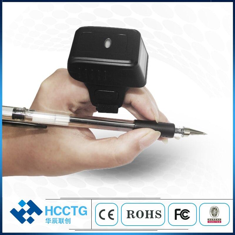 HS-S03 portatif de Scanner de code barres de Style d'anneau de doigt de Bluetooth de code barres 2D portable