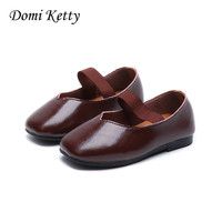 Domi Ketty Children Soft Sole Shoes Girls Princess Leather Shoes Spring Fashion Comfortable Dress Shoes For
