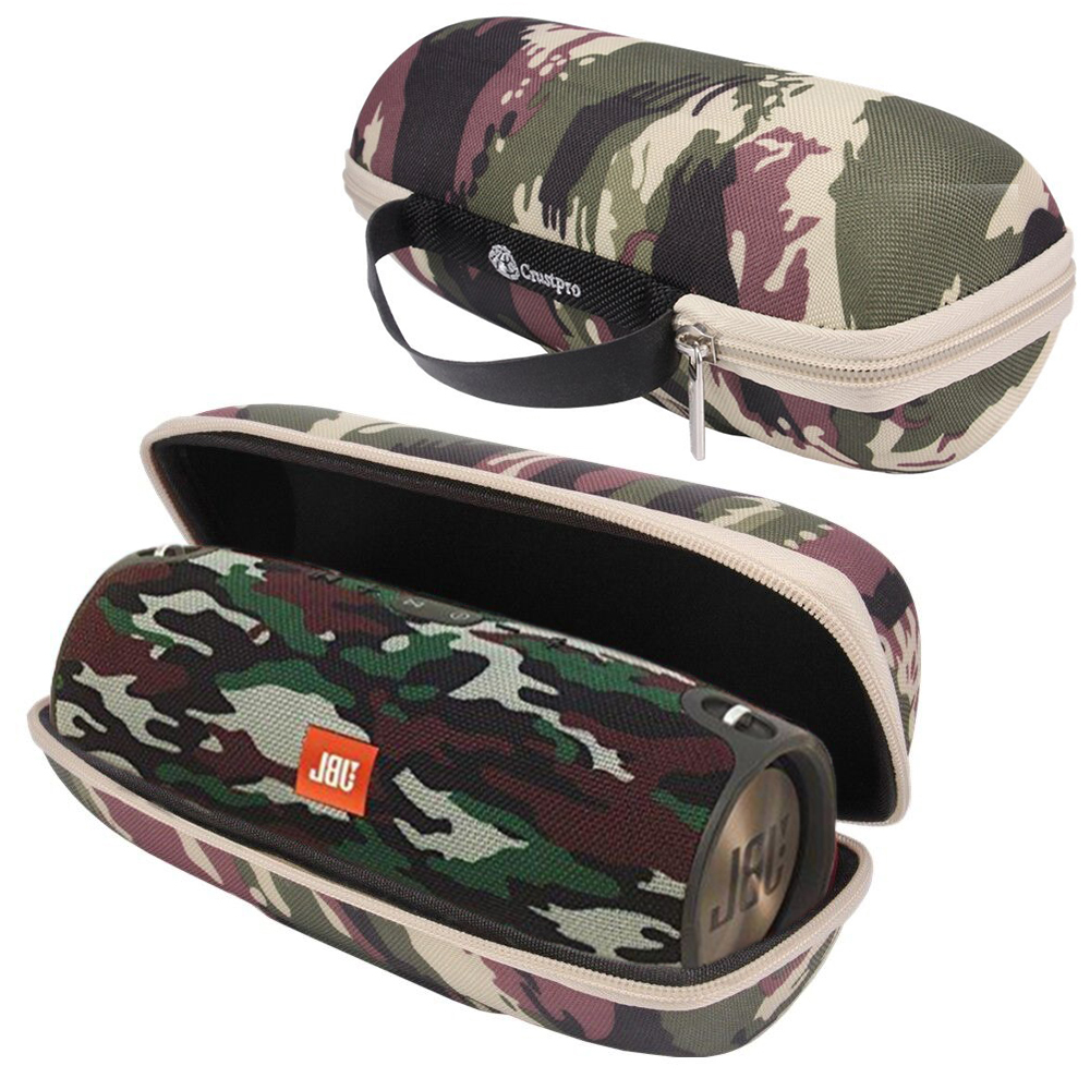Fashion PU Carry Travel Protective Speaker Cover Case Pouch Bag For JBL Charge 3 /Charge3 Wireless Bluetooth Speaker-Army Green japanese pouch small hand carry green canvas heat preservation lunch box bag for men and women shopping mama bag