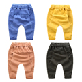 Crianças calças do bebê do sexo masculino de algodão calças haren nova crianças big boy