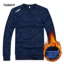 Tsingyi Autumn Plus Size 6XL 8XL Fleece Warm Camouflage Men Hoodie Long Sleeve Streetwear Sweat Homme Mens Sweatshirts Hoodies