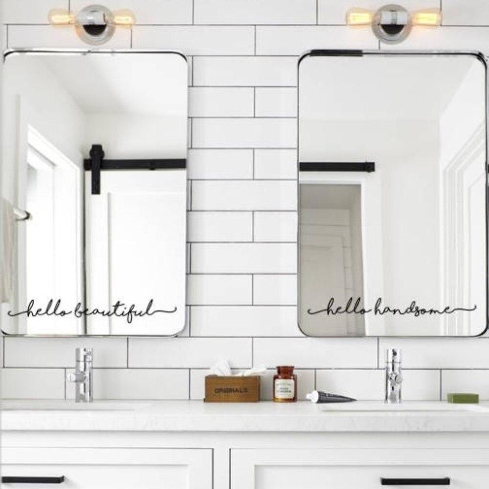 Inspirational Mirror Decal , Motivational Wall Sticker On ...