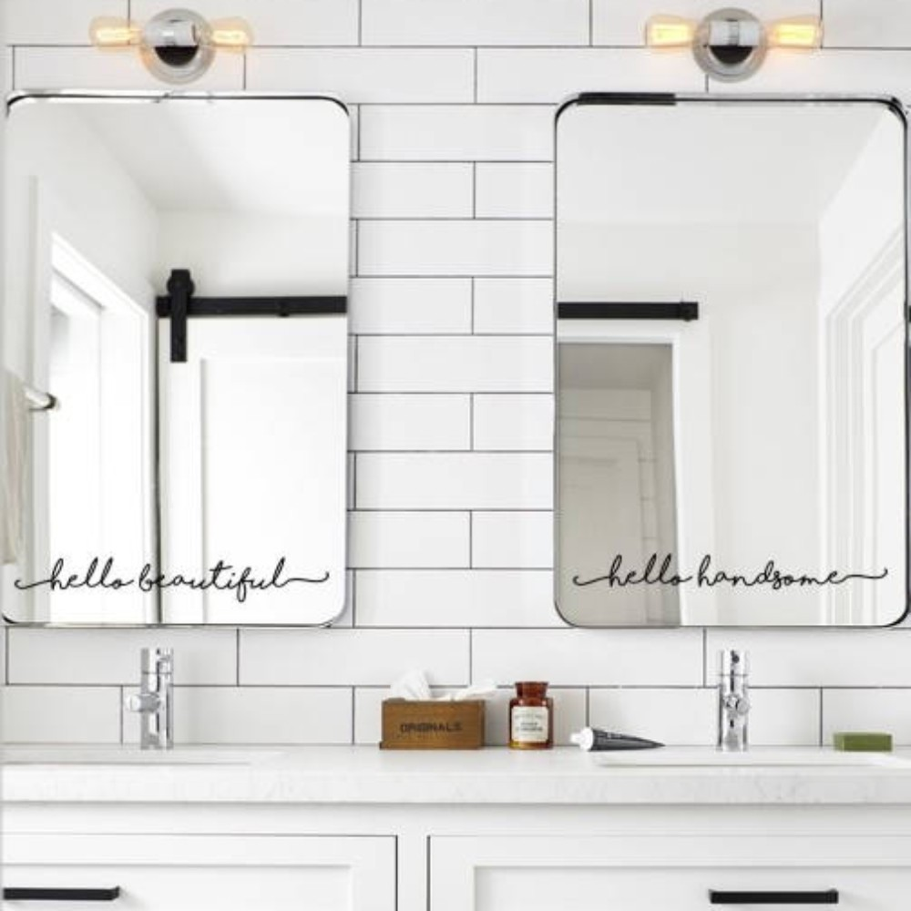 YOYOYU Inspirational Mirror Decal , Motivational Wall Sticker On Mirror for home bathroom decor Small wall sticker J804