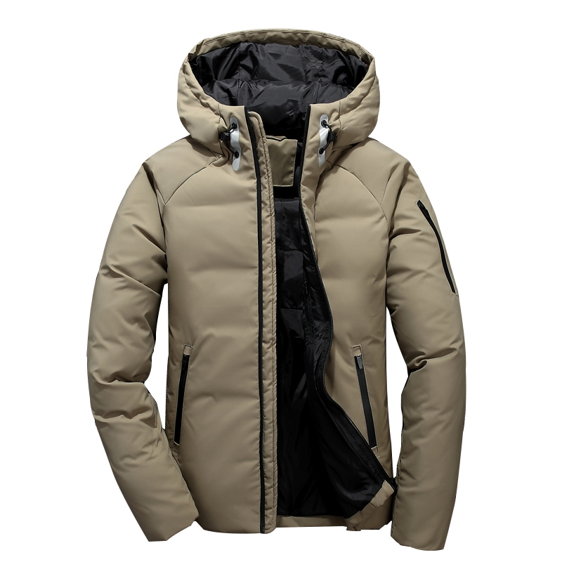 Mens Hooded Duck   Down   Jackets Man Thick Winter   Down     Coats   with collar Male Fashion Quality Overcoats Warm Parkas Outerwear