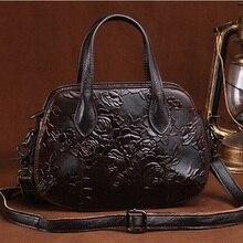 Natural Skin Handbag Women Cross Body Messenger Tote Bags Famous Brand