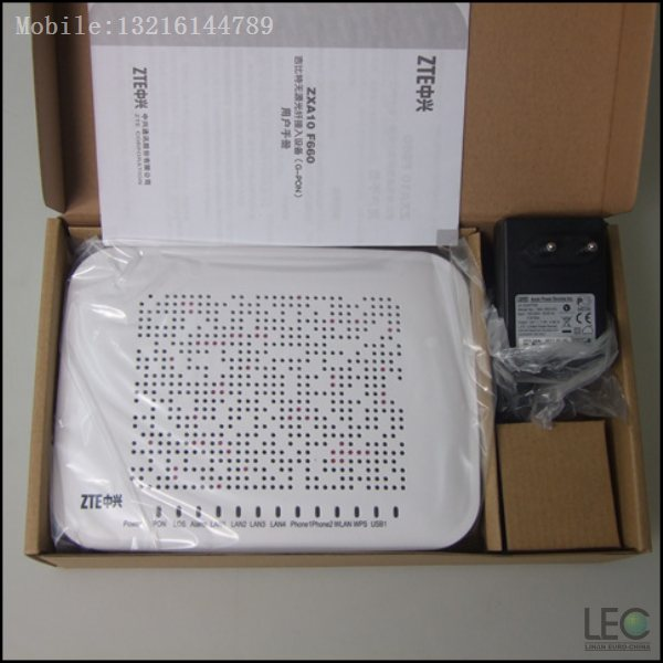 US $55 0 |English Version Original Brand New ZTE F660 V3 0 GPON ONU With 4  LAN Ports,2 Voice Ports and Wlan  Apply to FTTH-in Fiber Optic Equipments