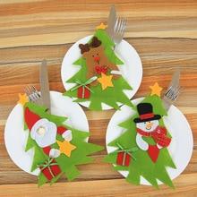 Bag Home Tableware Cutlery-Holder Santa-Hat Reindeer Dinner-Decoration Christmas New-Year