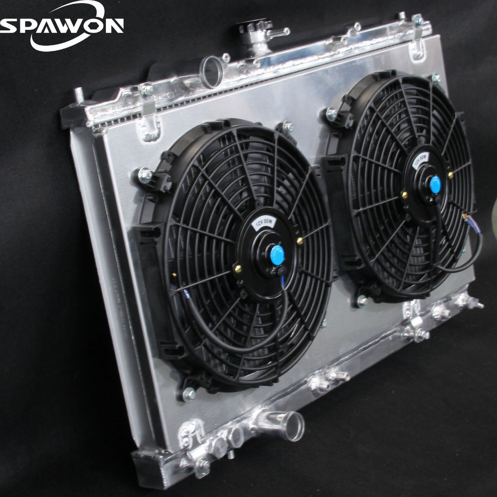 2208 2 Row Aluminum Radiator + Fan Shroud For Mitsubishi Mirage 97 02 L4  1.5 1.8-in Radiators & Parts from Automobiles & Motorcycles on  Aliexpress.com ...