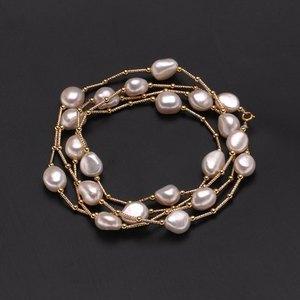 Image 3 - ZHBORUINI Hochwertige Mode Lange Perlenkette Barock Natürliche Süßwasserperle Schmuck Für Frauen Halskette Zubehör