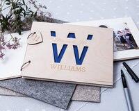 Inicial personalizada boda libro de invitados de boda rústica libro-regalo para parejas-recuerdo de la boda-alternativa invitado bo