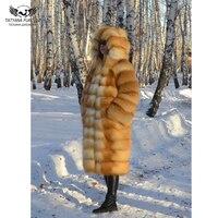 Tatyana Furclub Natural Fur Fox Coat For Women 2018 New Jacket Genuine Leather Fashion Clothing Plus Size Palace Streetwear Full