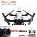 Original Walkera the fast and the Furious 320 GPS Racing RC Quadcopter w / DEVO10 800TVL cámara / OSD RTF