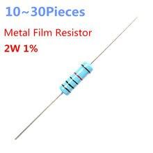 Resistencias axiales de película de Metal, resistencias de 3 ohm, 2W, 1%, 10 ~ 30 piezas