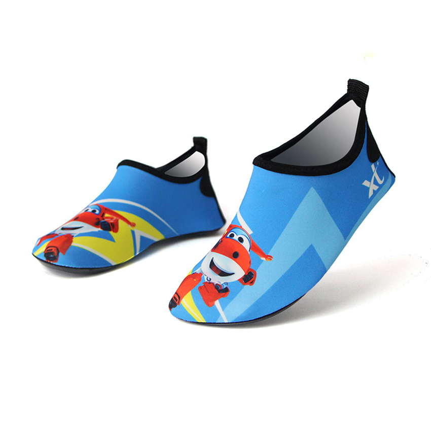 Baby Kids Quick Drying Swim Water Shoes Casual Footwear Barefoot LightWeight Aqua Socks for Beach Pool Cartoon Children Slippers