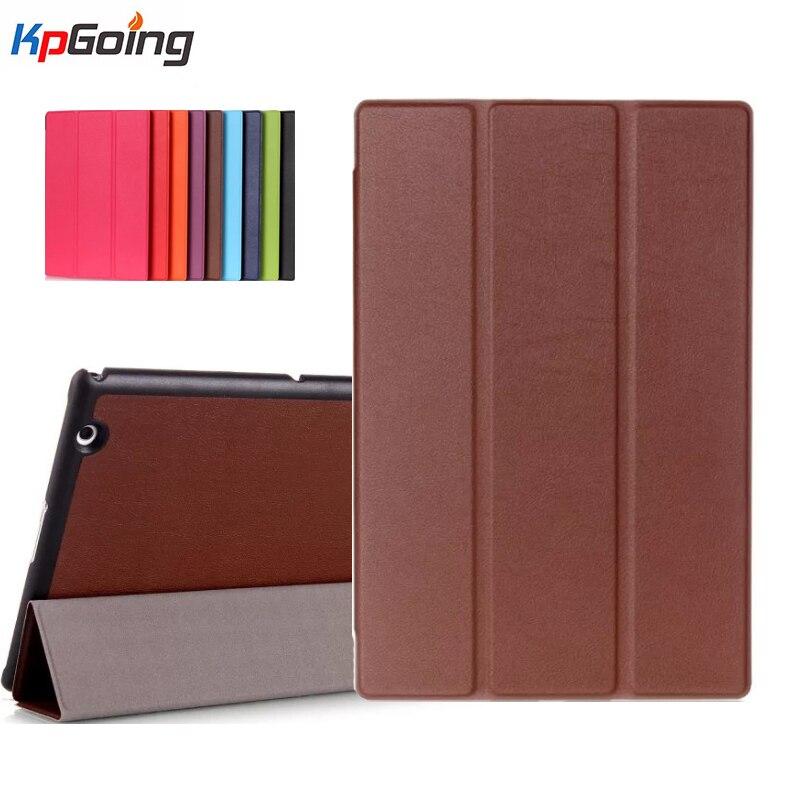 For Sony Xperia Z4 Tablet Ultra Case Slim 3 Folding Cover Case for Sony Xperia Z4 Tablet Ultra 10.1 Inch Tablet Cover Fundas