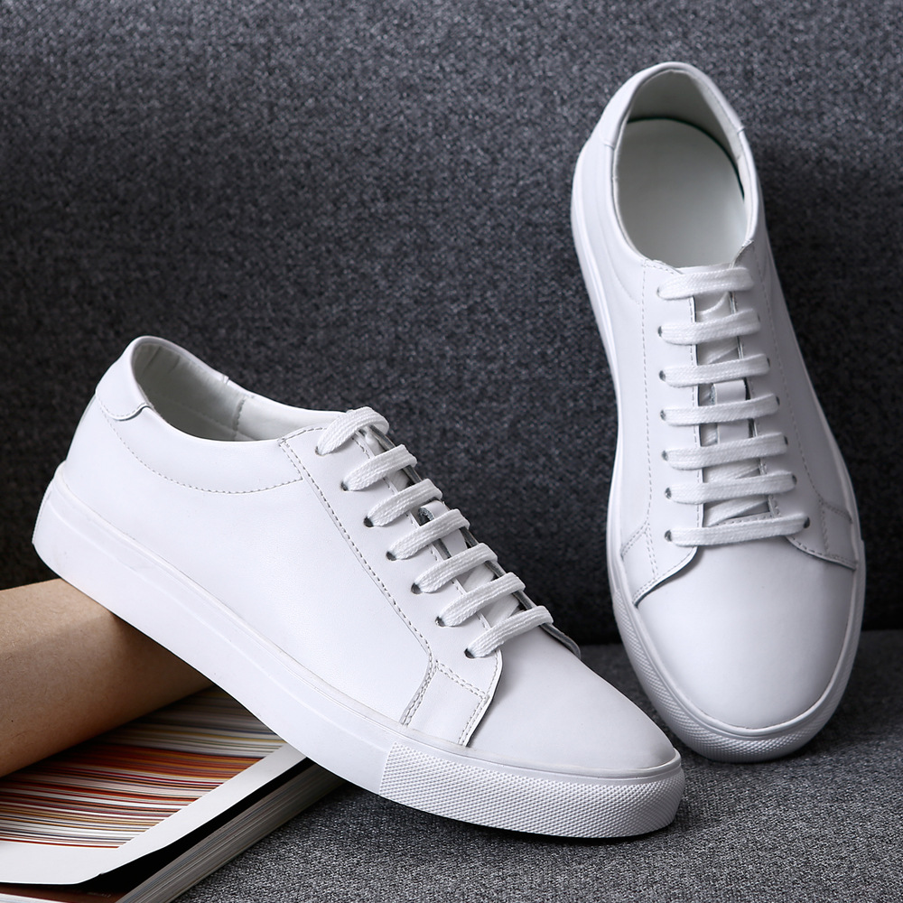 Printemps Grande Espadrilles Étudiant Chaussures White Femme 2017 Cuir Taille black Véritable Mode Femmes 35 Casual De À Lacets 40 Plat Loisirs rqTrtp
