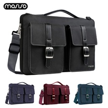 купить MOSISO Laptop Bag Case 13.3 14 15 Inch Notebook Shoulder Bag for MacBook Air 13 Pro 15 Case Waterproof Computer Handbag Briefcas дешево
