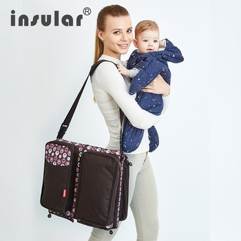 Travelling Baby Diaper Bag Portable Outdoor Baby Crib Bed Infant Safety Bag Cradles Folding Crib Bed Safety Mommy Bag