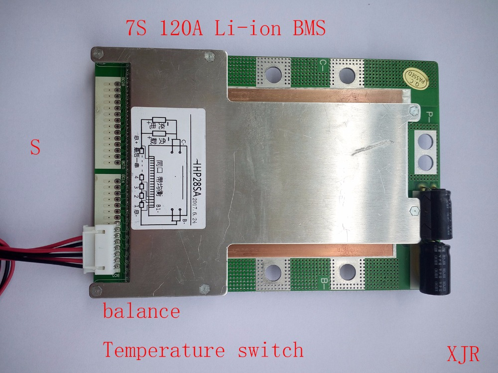 7S 120A version S lithium Polymer lipo BMS PCM PCB battery protection board for 7 Packs