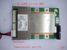 7 S 120A versie S lithium polymeer lipo BMS/PCM/PCB batterij bescherming boord voor 7 Packs 18650 ion Batterij Mobiele w/Balance