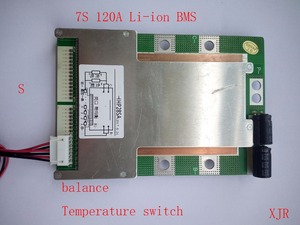Image 1 - 7 S 120A versiyonu S lityum Polimer lipo BMS/PCM/PCB pil koruma levhası 7 Paketleri 18650 li ion pil hücresİ w/Denge