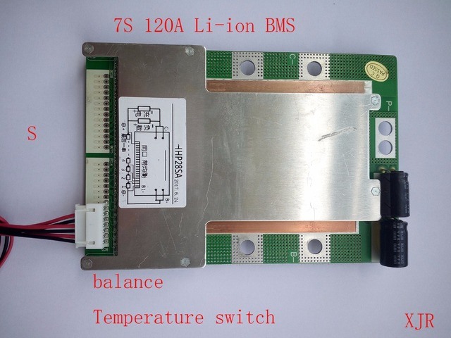 7 S 120A versiyonu S lityum Polimer lipo BMS/PCM/PCB pil koruma levhası 7 Paketleri 18650 li ion pil hücresİ w/Denge