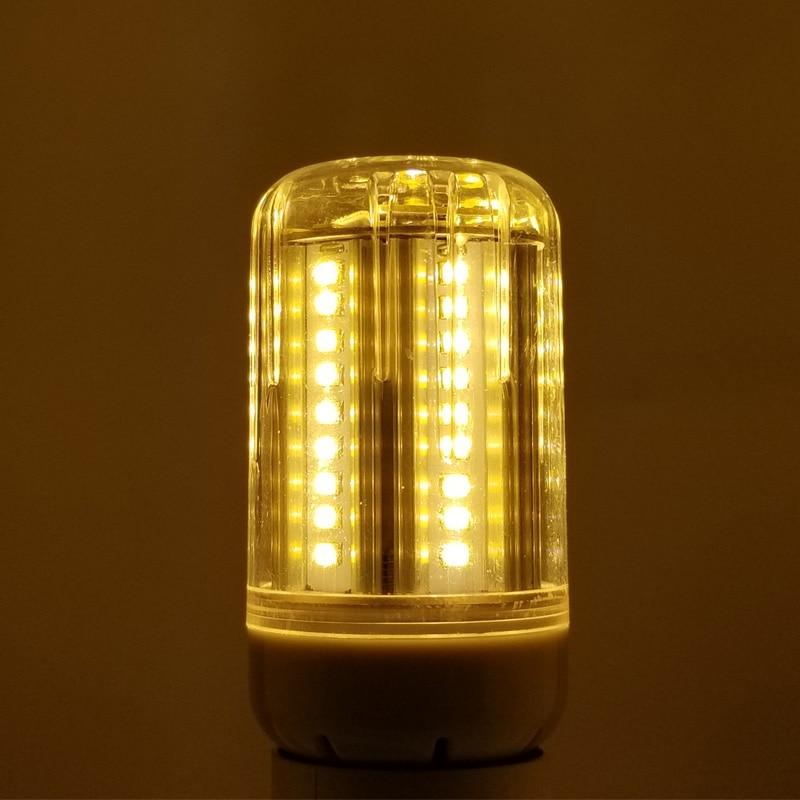E27/E26 85-265V 72LED 30W LED Radar Induction Corn Lamp Body Motion Sensing Bright Night Lighting Human Induction Sensor Lights