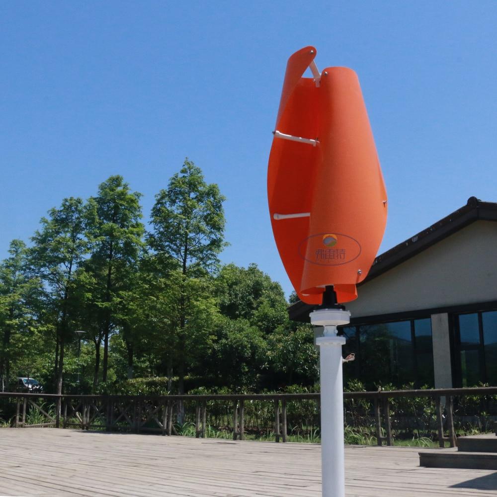 Générateur de vent à axe vertical 300 w 12v24v avec contrôleur automatique MPPT 12 v 24 v générateur d'éolienne Maglev démarrage 1.3 m pas de bruit - 3
