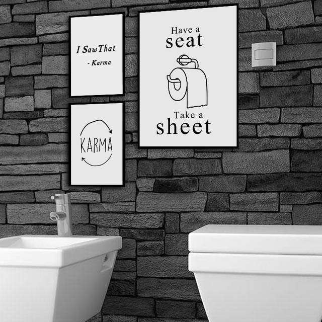 Toilet Paper Karma Nordic Posters And Prints Wall Art  1