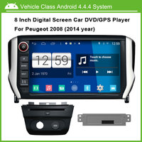 Android 4 4 4 Car DVD Player For Peugeot 2008 Audio Video Player Multi Touch Capacitive