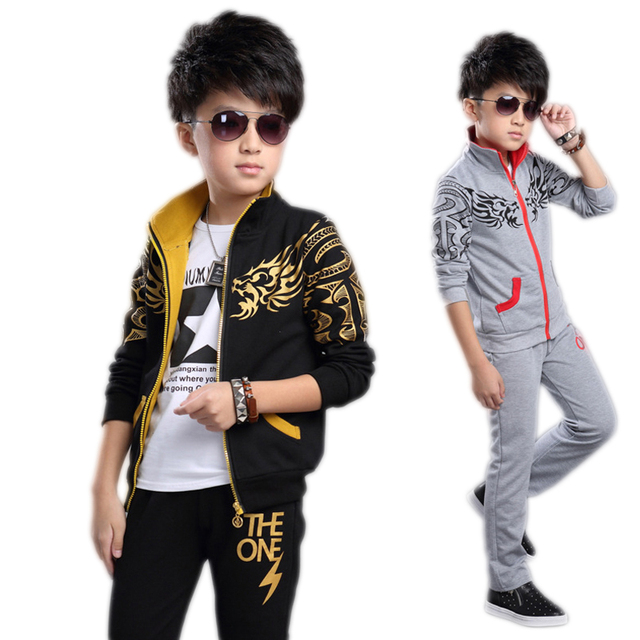 clothing set boys girls clothing sport suit boys clothes children sports clothes for boys 2017