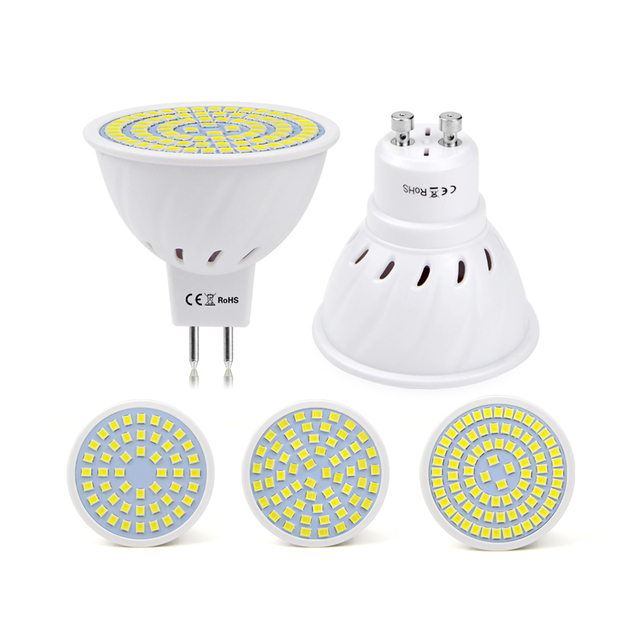 10 stks gu10 mr16 led lampada hittebestendige brandwerende shell spotlight lamp ac220v 230 v 240 v