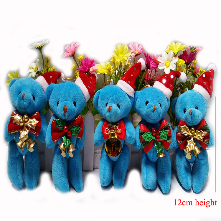 christmas teddy bear bear christmas decorations christmas tree ornaments christmas bear10pcslot t in stuffed plush animals from toys hobbies on