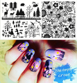 BP-L011 Tree Flower Animal Nail Art Stamp Template Image Plate BORN PRETTY Nail Stamping Plates Set L011 12.5 x 6.5cm #19366