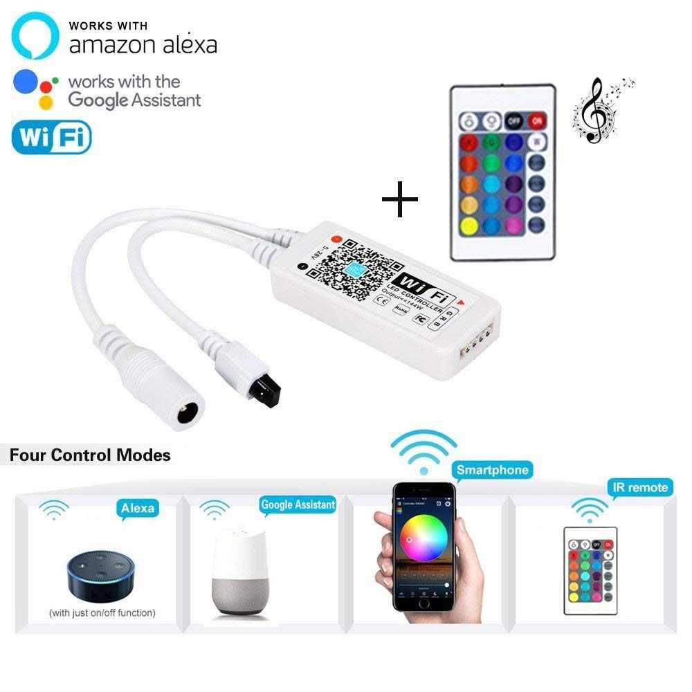 MoRaVa LED Denetleyici 24Key 44Key IR Remoter Denetleyici Müzik WiFi Kablosuz RGB LED Denetleyici 2835 5050 RGB LED Şerit