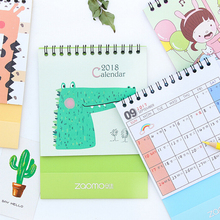 hot 2018 year calendar small crocodile desk paper calendar table planner agenda organizer to do list
