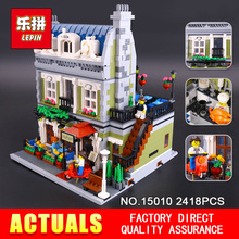 Lepin 15010 Creator Expert City Street Parisian Restaurant Model Building Blocks Toy Compatible 10243 Christmas Gifts