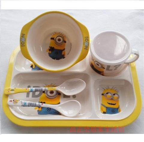High Quality 5pcs/set Cartoon Bowl + Spoon +Cup Perfect Feeding Dish Set Baby & High Quality 5pcs/set Cartoon Bowl + Spoon +Cup Perfect Feeding Dish ...
