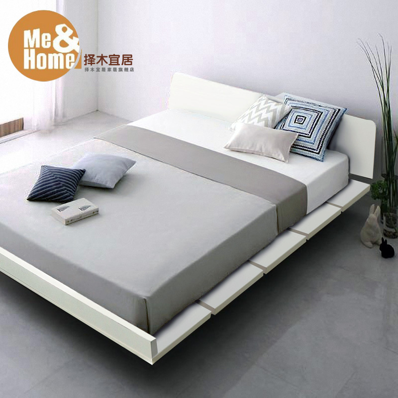 IKEA environmental simple tatami bed plate bed 1.5 m 1.8 m 1.2 m ...