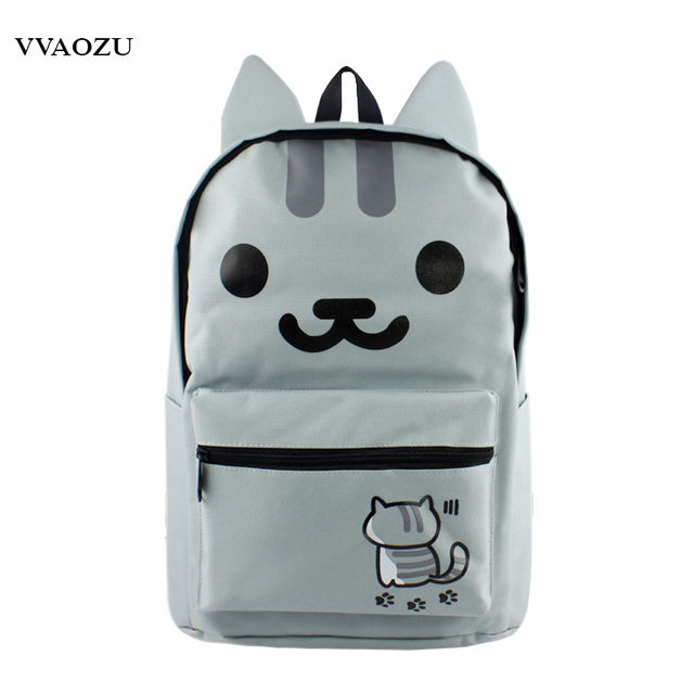 d4bb173d21f8 Anime Neko Atsume Backpack Cat Backyard Shoulder School Bags 3D Cat Cartoon  Rucksack Schoolbag for Boys Girls