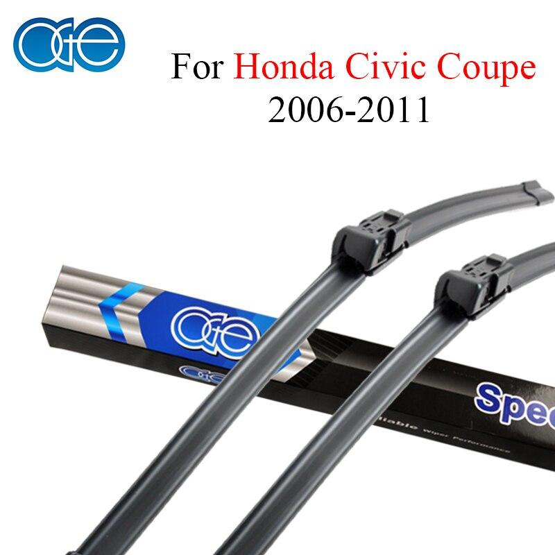 Oge Pára Wiper Blades Para Honda Civic Coupe 2006 2011 Par 28 U0027u0027+ 24u0027u0027  Brisas Borracha De Silicone Auto Acessórios Do Carro