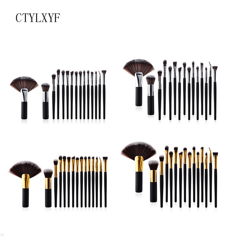 Professional  CTYLXYF Makeup Brushes Set Foundation Blending Powder Eyeshadow Contour Concealer Blush Cosmetic Makeup Tool 8pcs professional mermaid makeup brushes set foundation blending eyebrow eyeliner blush blending contour cosmetic make up tools