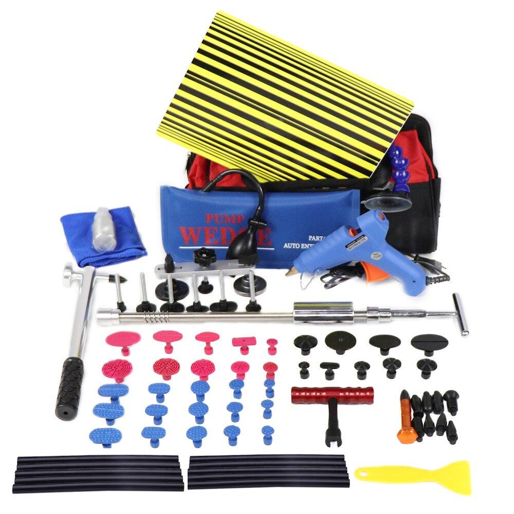 PDR Outils Kit Débosselage Débosselage sans peinture Outils De Voiture Dent De Réparation À Lisser Les Bosses Instruments Ferramentas