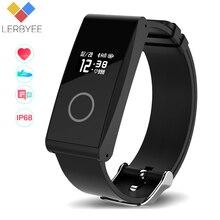LERBYEE ultra-thin Health Tracker Sleep Monitor Sensible Band Coronary heart Price Monitor IP68 waterproof Exercise Tracker for android/IOS