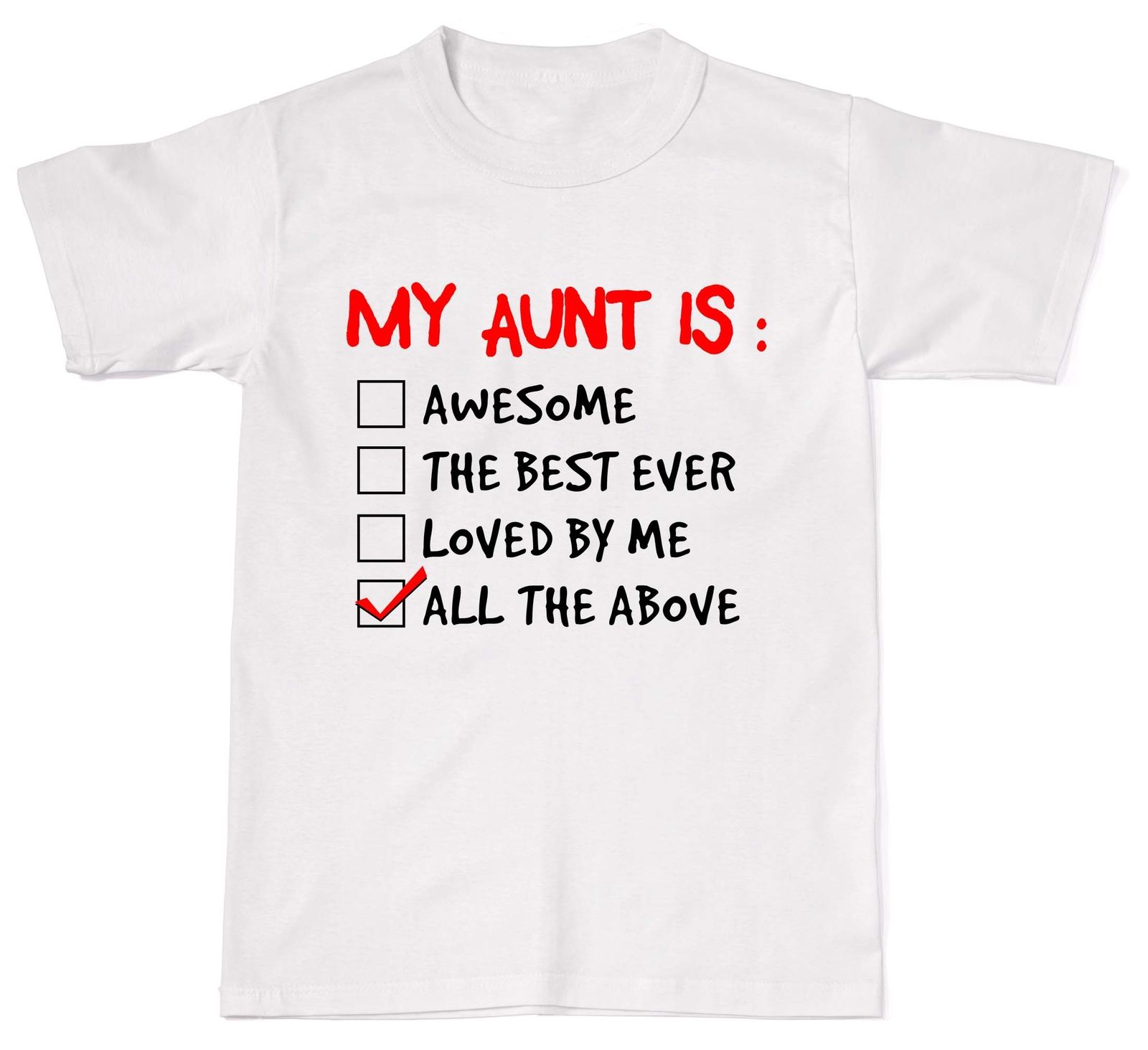 New 2018 Fashion My Aunt Is Awesome Amazing Aunty Unisex T-Shirt T Shirt Cotton