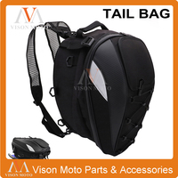 New Waterproof Motorcycle Mounting Accessories Tail Bag Multi functional Durable Rear Seat Bag High Capacity Rider Backpack