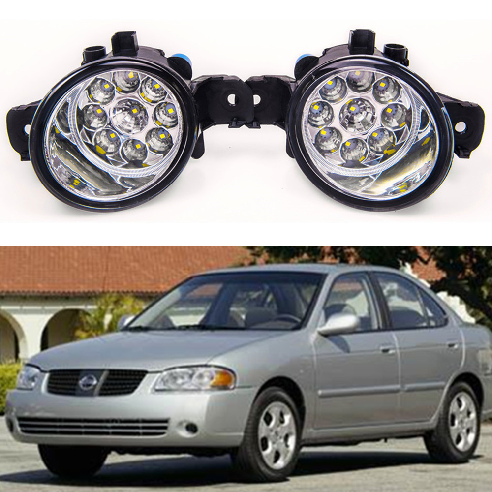 For NISSAN Sentra 2004-2014 Car styling High brightness LED fog lights DRL lights 1SET for nissan altima 2008 2014 car styling led fog lights high brightness fog lamps 1set